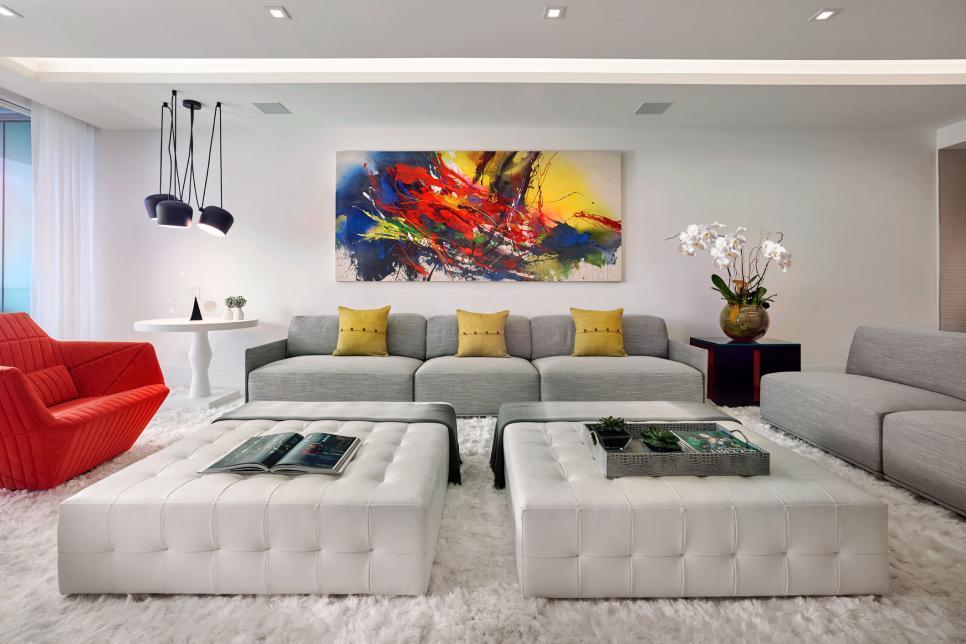Decora o moderna sala de estar de luxo divina haus for Sala de estar funcional